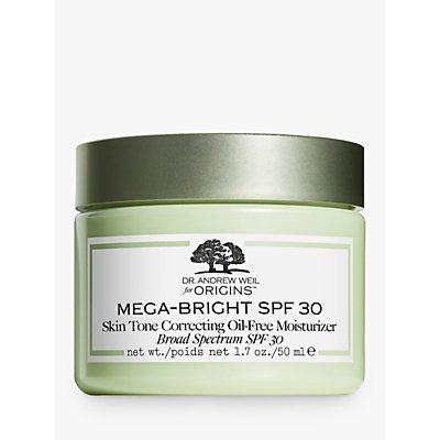 Dr. Andrew Weil for Origins™ Mega-Bright Skin Tone Correcting Oil-Free Moisturiser, SPF 30, 50ml