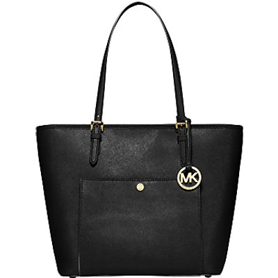 MICHAEL Michael Kors Jet Set Snap Pocket Leather Tote Bag