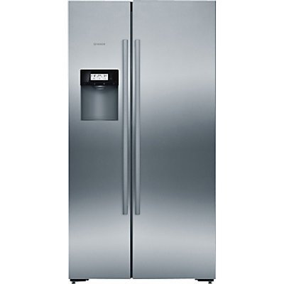 Bosch KAD92AI30 American Style Freestanding Fridge Freezer, A+ Energy Rating, 91cm Wide, Silver Inox
