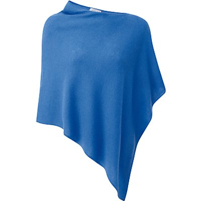 5052265374773 | Pure Collection Presley Gassato Cashmere Poncho  Nordic Blue