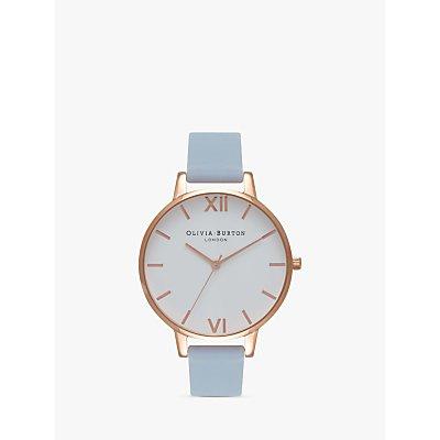 Olivia Burton Women's White Dial Leather Strap Watch