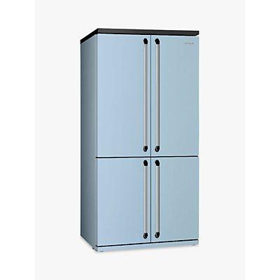 Smeg FQ960PB 4-Door American Style Fridge Freezer, A+ Energy Rating, 92cm Wide, Blue