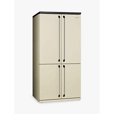 Smeg FQ960P 4-Door American Style Fridge Freezer, A+ Energy Rating, 92cm Wide, Cream