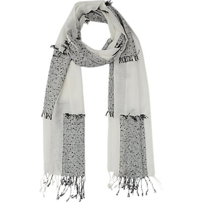 French Connection Hopscotch Scarf, Monochrome