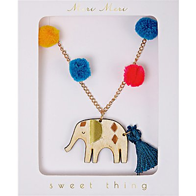 Meri Meri Children's Elephant Necklace