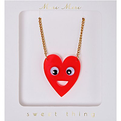 Meri Meri Heart Face Necklace, Multi