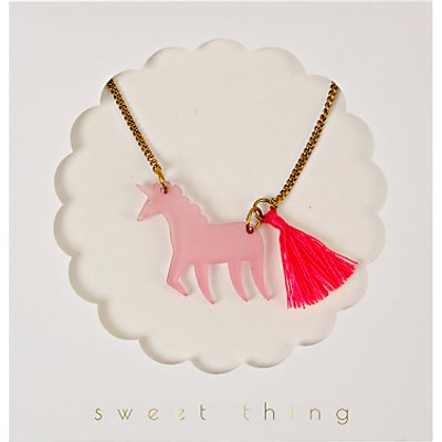Meri Meri Unicorn Necklace, Multi
