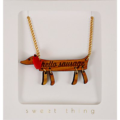 Meri Meri Hello Sausage Necklace, Multi