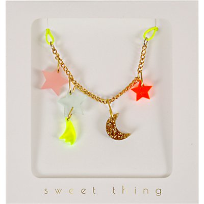 Meri Meri Moon and Stars Necklace, Multi