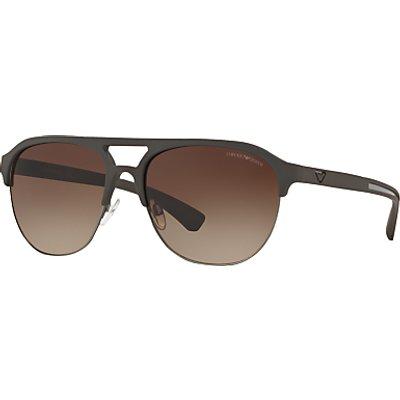 Emporio Armani EA4077 Half Frame Square Sunglasses
