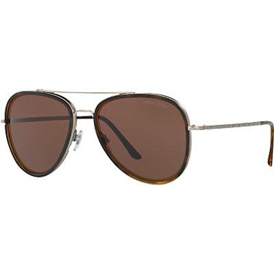 Giorgio Armani AR6039 Frames of Life Aviator Sunglasses, Tortoise