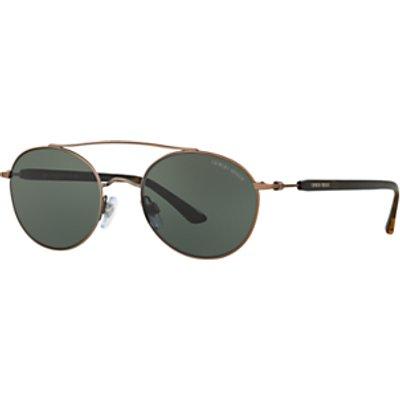 Giorgio Armani AR6038 Round Sunglasses, Bronze/Grey
