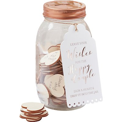 Ginger Ray Wishing Jar Wedding Guest Book