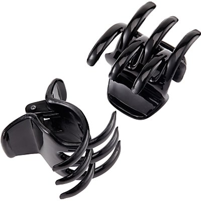 Midi Claw Hair Grips, 2 Pack, Black