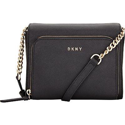 DKNY Bryant Park Saffiano Leather Small Pocket Across Body Bag, Black