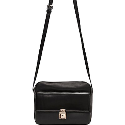 French Connection Clean Caroli Faux Leather Crossbody Bag, Black