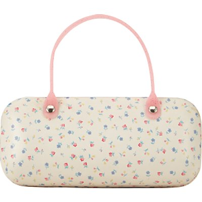 John Lewis Children's Ditsy Floral Sunglasses Case, Cream/Multi