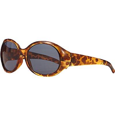 John Lewis Children's Tortoiseshell Oversized Sunglasses, Brown
