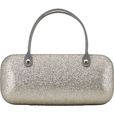 John Lewis Children's Glitter Sunglasses Case, Silver