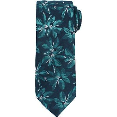 John Lewis Large Flower Print Woven Silk Tie