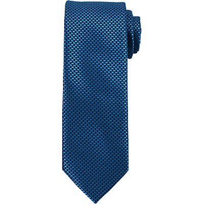 John Lewis Mini Block Tie, Navy/Teal