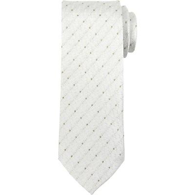 John Lewis Fine Stripe Dot Tie, Silver