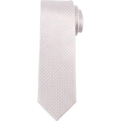 John Lewis Tonal Dot Silk Tie, Grey/Silver