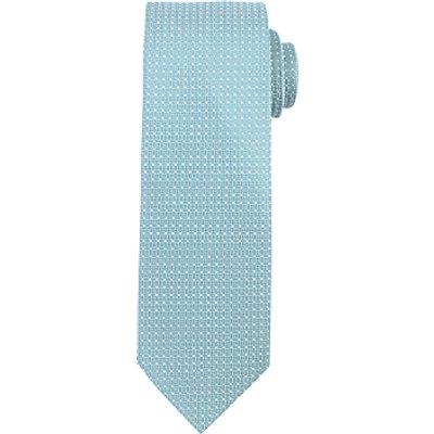 John Lewis Textured Grid Dot Polyester Tie, Sage