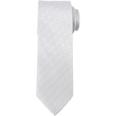 John Lewis Broken Stripe Tie, Silver