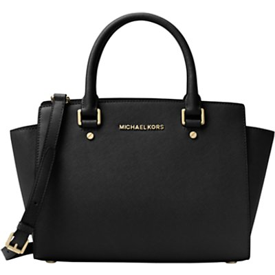 MICHAEL Michael Kors Selma Leather Top Zip Satchel Bag