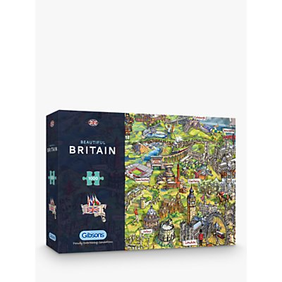 Gibsons UK Map Jigsaw Puzzle, 1000 pieces
