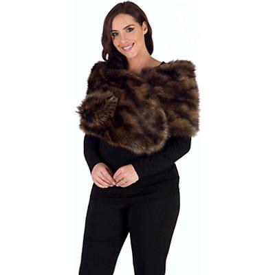 Chesca Large Faux Fur Wrap