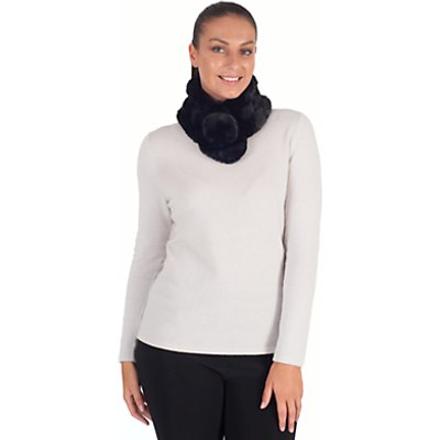 Chesca Knitted Faux Fur Collar