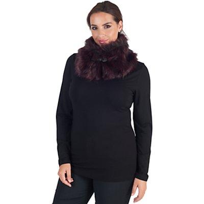 Chesca Faux Fur Buckle Detail Collar, Cranberry
