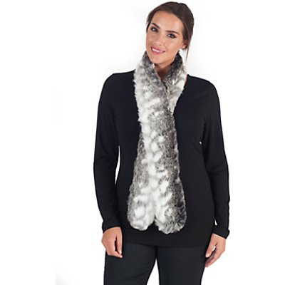 Chesca Faux Fur Scarf, Snow Wolf