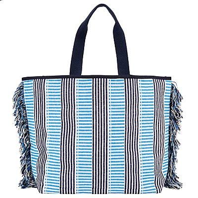 John Lewis Woven Stripe Canvas Tote Bag