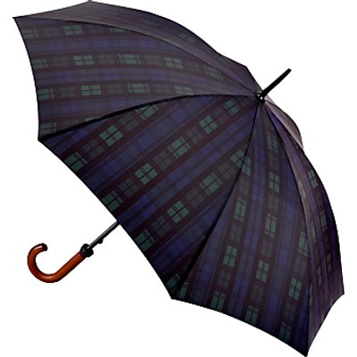 Fulton Huntsman-2 Blackwatch Walking Umbrella, Navy/Green