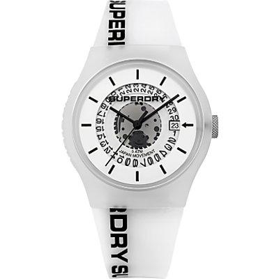 Superdry Unisex Urban Semi Opaque Date Silicone Strap Watch