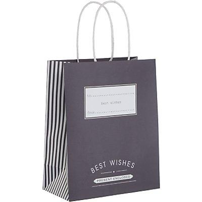 John Lewis Candy Stripe Gift Bag - 22950857