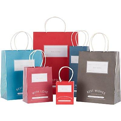 John Lewis Candy Stripe Gift Bag - 22950888