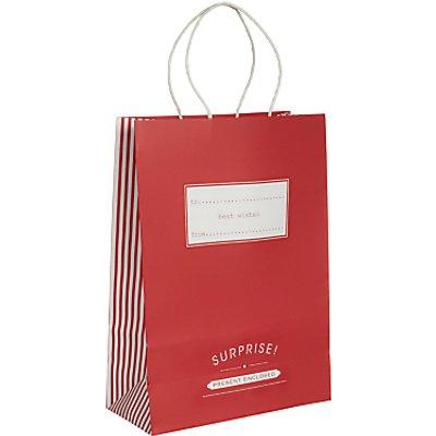 John Lewis Candy Stripe Gift Bag - 22950840