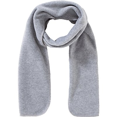School Fleece Scarf, One Size, Grey