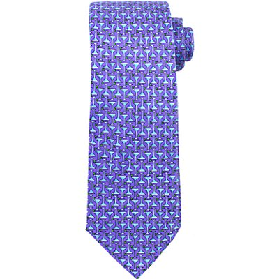 John Lewis Martini Glass Print Woven Silk Tie