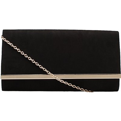 Carvela Dylan Foldover Clutch Bag, Black