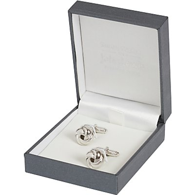 Simon Carter for John Lewis Sterling Silver Knot Cufflinks, Silver