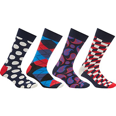 Happy Socks Exclusive Sock Gift Box, One Size, Pack of 4, Multi