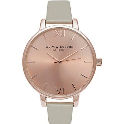 Olivia Burton Women's Big Dial Leather Strap Watch