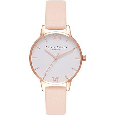 Olivia Burton Women's Midi Dial Leather Strap Watch