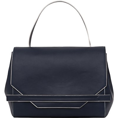 French Connection Cynthia Tote Bag, Utility Blue/White