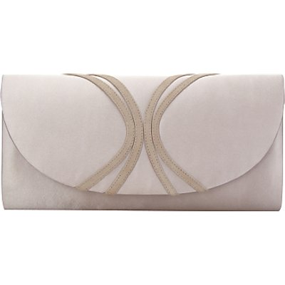 Jacques Vert Piped Clutch Bag, Mid Neutral